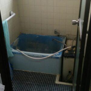 築年数の古い在来浴室例